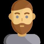 Иконка мужчина с бородой