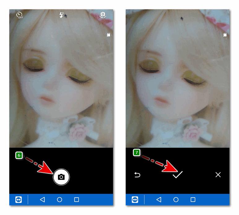 Камера фото для контакта Телефон