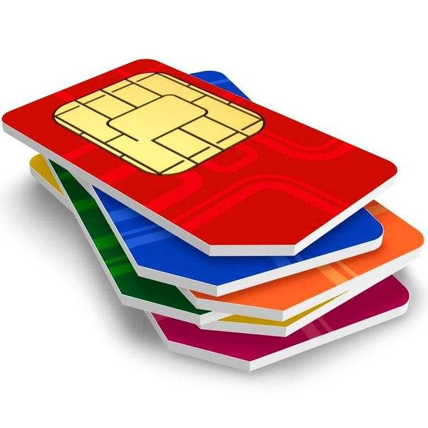 Sim карты и телефон логотип